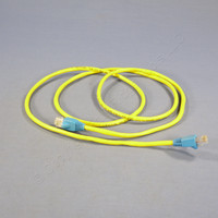 Leviton Yellow Cat 5 5 Ft Ethernet LAN Patch Cord Network Cable Cat5 Blue Boot 5G454-5L