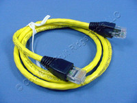 Leviton Yellow Cat 5e 3 Ft Ethernet LAN Patch Cord Network Cable Booted Cat5e 5G455-3Y