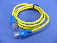 Leviton Yellow Cat 5 3 Ft Ethernet LAN Patch Cord Network Cable Cat5 Red Boot 5G454-3R