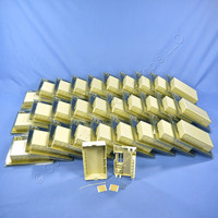 30 Leviton 6-Port Ivory Surface Mount Quickport Wallplate Module Boxes 40826-I