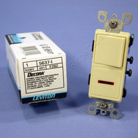 Leviton Ivory Single Pole Decora Rocker Wall Switch with Pilot Light 20A 5637-I