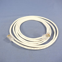 Leviton White Cat 5 7 Ft Ethernet LAN Patch Cord Network Cable Cat5 52455-7W