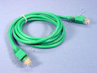 Leviton Green Cat 5e 5 Ft Ethernet LAN Patch Cord Network Cable Booted Cat5e 5G460-5G