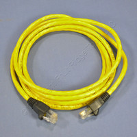 Leviton Yellow Cat 5e 7 Ft Ethernet LAN Patch Cord Network Cable Booted Cat5e 5G455-7Y