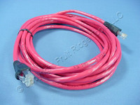 Leviton Red Cat 5e 15 Ft Ethernet LAN Patch Cord Network Cable Booted Cat5e 5G455-15R