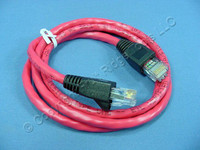 Leviton Red Cat 5e 3 Ft Ethernet LAN Patch Cord Network Cable Booted Cat5e 5G455-3R