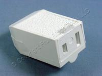 White Leviton 1-15 Straight Blade Connector Plug NEMA 1-15R 15A 125V 102-662-W
