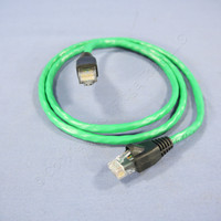 Leviton Dark Green Cat 5e 3 Ft Ethernet LAN Patch Cord Network Cable Booted Cat5e 5G455-3G