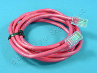 Leviton Red Cat 5 5 Ft Ethernet LAN Patch Cord Network Cable Cat5 52455-5R