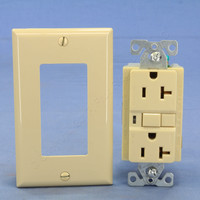Cooper Ivory GFCI GFI Outlet Straight Blade Receptacle with Quick-Connect NEMA 5-20R 20A 125V Bulk VGF20BVM