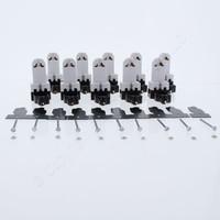 10 Leviton White Medium Base Bi-Pin Fluorescent Lampholders Starter Base 2-Screw Terminal 660W 600V 391-1W