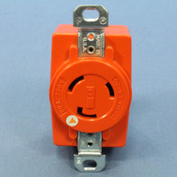 Bryant Orange Turn Locking Isolated Ground Receptacle Outlet NEMA L6-20R 20A 250V 70620IG