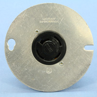 "Bryant Non-NEMA Locking Receptacle 20A 120/208V 3PHY 4"" Round Metal Box Cover"