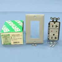 Bryant Gray ISOLATED Ground SURGE Suppressor Decorator Receptacle Outlet Protector NEMA 5-20R 20A 125V SP53TIGGRY