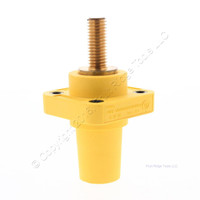 Hubbell Yellow Single Pole Panel Mount Female Receptacle for Threaded Mounting Hole HBLFRSY