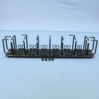 """Hubbell Nextframe Horizontal Cable Management Panel 7 Horizontal & 4 Horizontal Rings With 24 Wire Saddles 3.5""""H x 19""""w"""