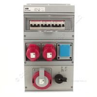 New ABB Splashproof Combination Modular for 32A IP44 3P+N+E IEC 60309 MP32/SW1