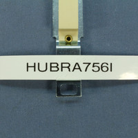 Hubbell Ivory Blank Standard Toggle Switch Wallplate Filler Insert and Strap RA756I