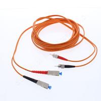 5M Leviton Fiber Optic Patch Cable Cord ST SC 62.5 Micron Duplex Multimode CTD62-05M