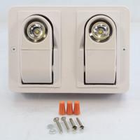 New White AstraLite L.E.D. Remote Dual Heads Emergency Lights LG-LED-REM-2H-W-6