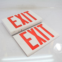 """New AstraLite Universal Thermoplastic LED Exit Sign Red Letter 12.6"""" LG-U-R-W-EM"""