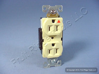 New Eagle Ivory Metal Ears ISOLATED Ground Outlet Receptacle 15A IG5262V Bagged