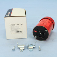 Cooper Nylon Auto-Grip Industrial Grade 30A 480V 3-Pole 4-Wire Grounding Powerlock Armored Connector Plug Non-NEMA 20444