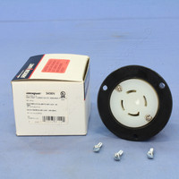 Cooper Industrial Nylon 4-Pole 4-Wire 3-Phase Back Wire 30A 120/208V Non-Grounding/NEMA Locking Flanged Outlet 3436N
