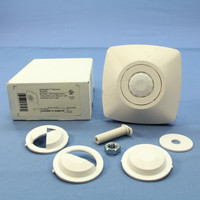 Cooper White Ceiling Microset 2-Way Sensor PIR Surface Mount up to 450 ft w/Relay AHOMC-P-0450-R