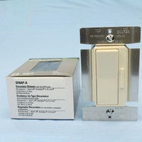 Cooper Almond Preset ON/OFF 3-Way Single Pole Decorator Dimmer 8A 120V 60Hz Mark 10 DF8AP-A