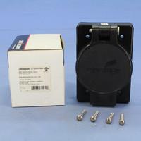 Cooper Black Thermoplastic Back Wire Grounding Watertight Single Receptacle NEMA L7-20R 20A 277V 2-Pole 3-Wire L720RWBK