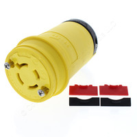 Cooper Yellow Industrial Grade Locking Connector Back Wire NEMA Non-Grounding L19-20R 20A 277/480V 3PH 4P4W L1920CY