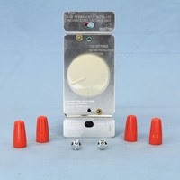 Cooper Almond Rotary Dimmer Light Switch Incandescent 3-Way 1.5A 600W RI306P-A-K
