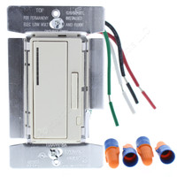 Cooper Light Almond Smart Electronic Low Voltage Decorator Dimmer Switch Single Pole 3-Way 60Hz 120V 1000W RF9537-NDLA