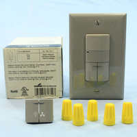 Cooper Gray Passive Infrared Wall Mount PIR Dual Relay Occupancy Sensor Switch Single Pole 3-Way 120/277V OSP10D-GY