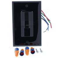New Cooper Black Commercial Grade Single Pole 3-Way PIR Occupancy Sensor Switch 120VAC Auto/Manual OSW-P-0801-120-B