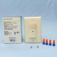 Cooper Almond Manual Passive Infrared Single/Multi-Way Vacancy Sensor 180� Field View 800 Sqft 120V 600W VSW-P-0801-120