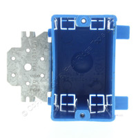 "Carlon Blue PVC Plastic 1-Gang Non-Metallic Switch/Outlet Box with Bracket 3-3/4""L x 2-1/4""W x 2-15/16""D B118B"