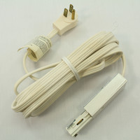"New Cooper HALO White Power-Trac Systems 12"" 3-Wire Cord & Grounding Plug Connector L950P"