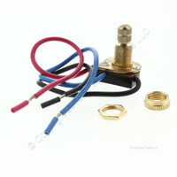 Pass and Seymour Heavy Duty 2 Circuit Single Pole Brass Rotary Appliance Switch 120/277V 653