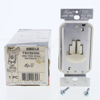 Pass and Seymour Light Almond Single Pole Grounding Incandescent Short Slide Dimmer Switch B&S 120VAC 600W SS600-LA