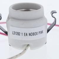 Leviton Porcelain Snap-In Lamp Holder Light Socket 110 Degree C Thermostat Pink/White Wires 660W 600V 31282-1