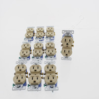 10 Eaton RESIDENTIAL Ivory Duplex Outlet Receptacles NEMA 5-15R 15A 125V 270V