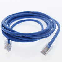 Leviton Blue Cat 5 7Ft Ethernet LAN Patch Cord Network Cable Cat5 8P8C 52455-7L