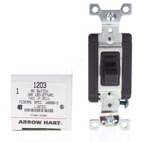 New Arrow Hart Brown INDUSTRIAL Grade 3-Way Toggle Wall Light Switch Control 15A 120/277VAC 1203