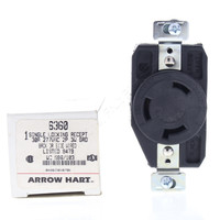 Arrow Hart Twist Turn Locking Receptacle Outlet NEMA L7-30R 30A 277V 2P3W 6360