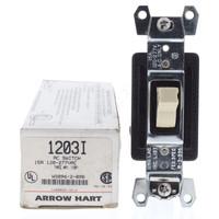 New Arrow Hart Ivory INDUSTRIAL Grade 3-Way Toggle Wall Light Switch Control 15A 120/277VAC 1203I
