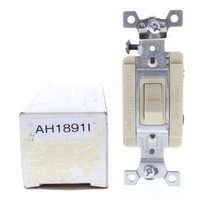 Arrow Hart Ivory Specification Grade Toggle Wall Light Switch Single Pole 15A 120/277V 1891I