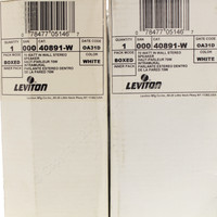 Leviton In-Wall Stereo Speakers Home Theater 70 Watt 90 db White 40891-W PAIR