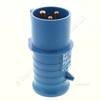 New CEWE Blue Pin and Sleeve Connector Plug 16A 220-250V 6H IP44 Bulk CPG216-6